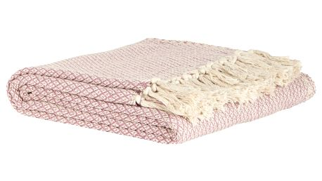 IB LAURSEN Bavlněný přehoz Pink Throw 130x160cm, růžová barva, textil