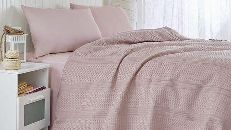 Lehký přehoz přes postel Pique Lilac, 220x240 cm