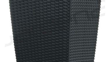 G21 Linea ratan Samozavlažovací květináč černý 55cm