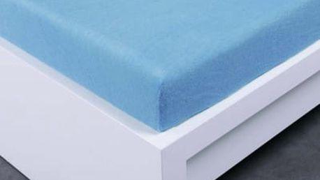 XPOSE ® Froté prostěradlo Exclusive dvoulůžko - světle modrá 200x200 cm