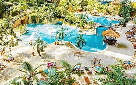Aquapark Tropical Islands u Berlína - výlet pro 1 osobu. Zařádíte si ve vlnách, na tobogánech.