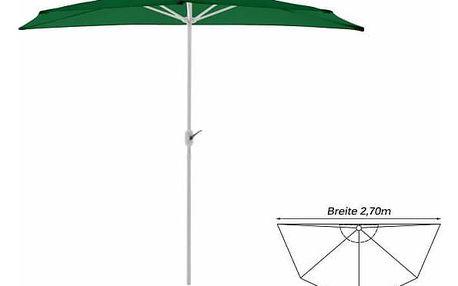 Garthen 6302 Půlkruhový zahradní slunečník - zelený- 2,7