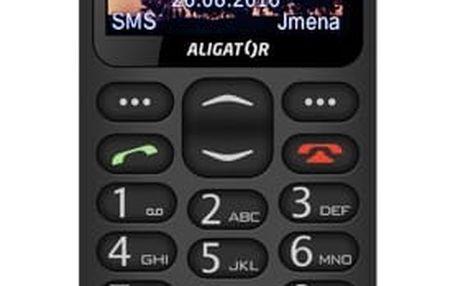 Mobilní telefon Aligator A880 GPS Senior černý (A880BK)