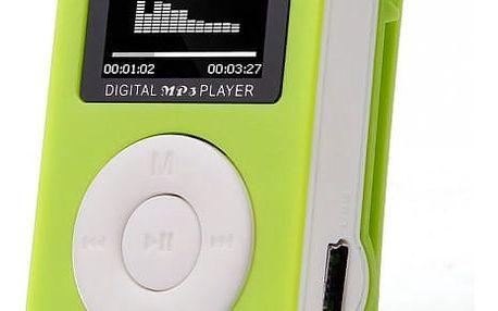 MP3 přehrávač s klipem - 5 barev