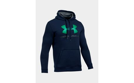 Mikina Under Armour Rival Fitted Graphic Hoodie Modrá
