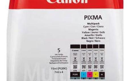 Canon PGI-570/CLI-571 PGBK/C/M/Y/BK MULTI BL w/o SEC (0372C004) černá/červená/modrá/žlutá