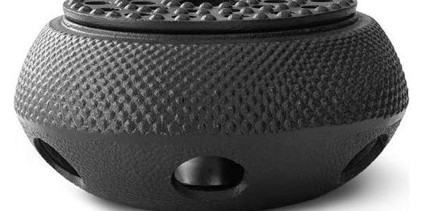 Černý litinový ohřívač na konvici na čaj Bredemeijer Jang
