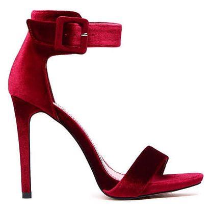Dámské vínové sandály Carolyn 1135