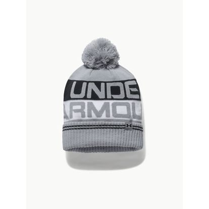 Čepice Under Armour Men's Retro Pom Beanie 2.0 Šedá