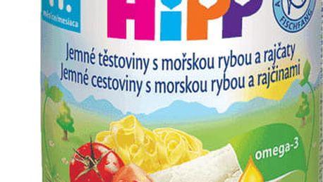 6x HIPP jemné těstoviny s mořskou rybou a rajčaty (220 g) - maso-zeleninový příkrm
