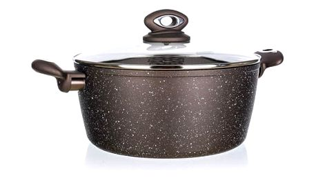 BanquetKastrol s nepřilnavým povrchem PREMIUM Dark Brown 24 x 10,5 cm, s poklicí