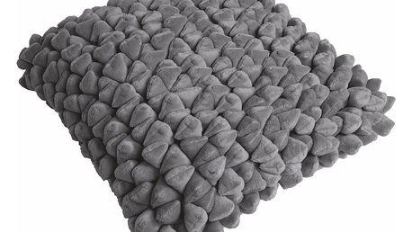 Šedý polštář ZicZac Pebble, 45x45cm