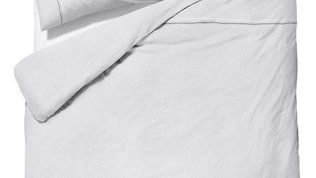 Bílé povlečení z mikroperkálu na dvoulůžko Sleeptime Monte Carlo,200x200cm