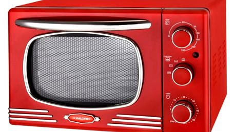 Kalorik OT 2500 R Mini trouba Retro, červená, 19,5 l
