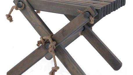 Šedá stolička z borovicového dřeva EcoFurn Lili