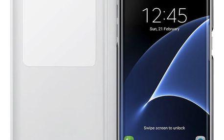 Pouzdro na mobil flipové Samsung S-View pro Galaxy S7 Edge (EF-CG935P) bílé (EF-CG935PWEGWW)