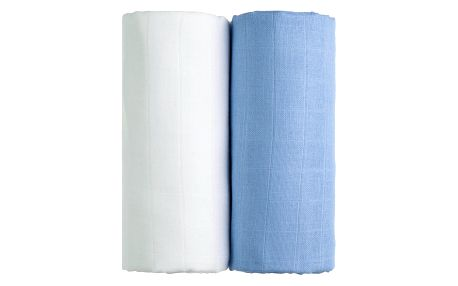 T-TOMI Exclusive Collection Látkové Tetra osušky 2 ks Bílá+modrá