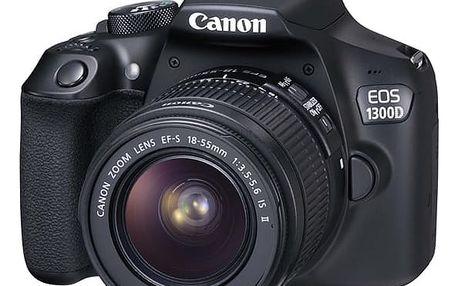 Digitální fotoaparát Canon 1300D + 18-55 IS II (1160C025) černý Příslušenství pro fotoaparáty Canon CAMERA ACC KIT SD 8GB+100EG+LC v hodnotě 881 Kč + DOPRAVA ZDARMA