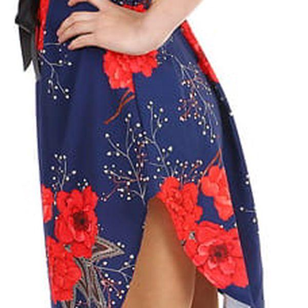 Volné dámské šaty s krátkým rukávem černá2