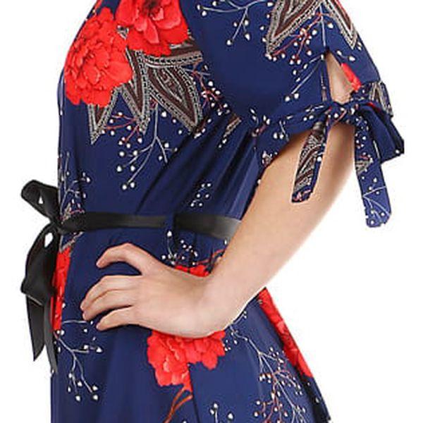 Volné dámské šaty s krátkým rukávem černá4
