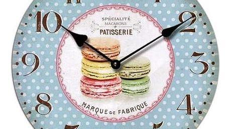 Nástěnné hodiny Macarons, 34 cm