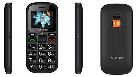 Aligator A321 Senior Dual SIM (A321GB) černý/šedý