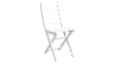 Bílá skládací židle Butlers Lodge