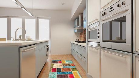 Vysoce odolný kuchyňský koberec Webtappeti Patchwork,60x140cm