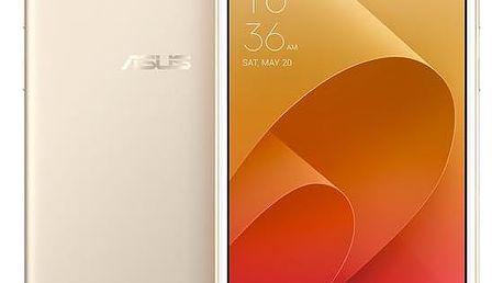 Mobilní telefon Asus 4 Selfie (ZD553KL-5G027WW) (ZD553KL-5G027WW) zlatý Sluchátka Asus FoneMate s pouzdrem bílý + DOPRAVA ZDARMA