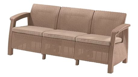 Allibert Corfu Love Seat Max cappuccino