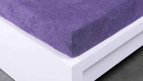 XPOSE ® Froté prostěradlo Exclusive dvoulůžko - fialová 200x220 cm
