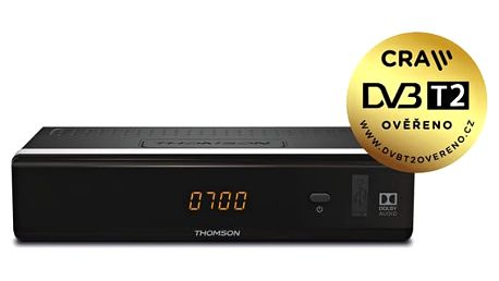 DVB-T2 přijímač Thomson THT712 černý (THT712)