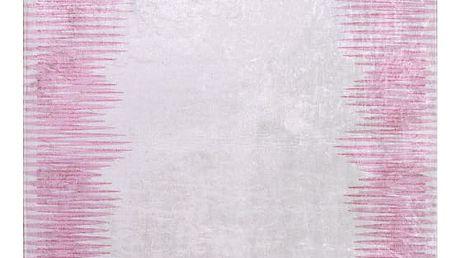 Růžovošedý koberec Vitaus Hali Pudra, 80x150cm