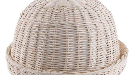 Orion Ratanová chlebovka s utěrkou, 32 cm