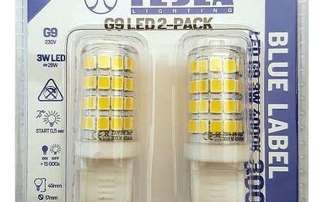 Tesla bodová, 3W, G9, teplá bílá (G9000340-5PACK )