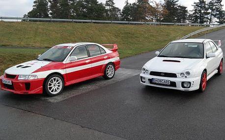 Závodní den v Mitsubishi a Subaru na Showcars v Hradišti
