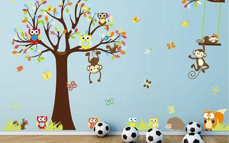 Sada samolepek Ambiance Cute Monkeys Playing On Trees