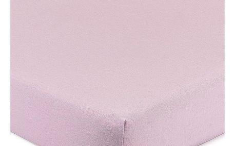 4Home Jersey prostěradlo s elastanem fialová, 180 x 200 cm