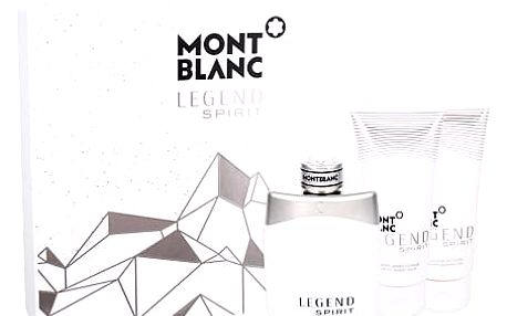 Montblanc Legend Spirit EDT dárková sada M - EDT 100 ml + balzám po holení 100 ml + sprchový gel 100 ml