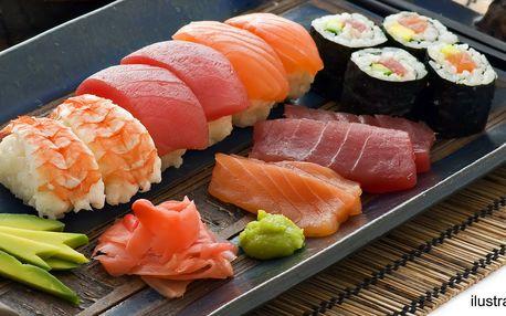 Sushi dny: polévka, 3 druhy sushi a dezert