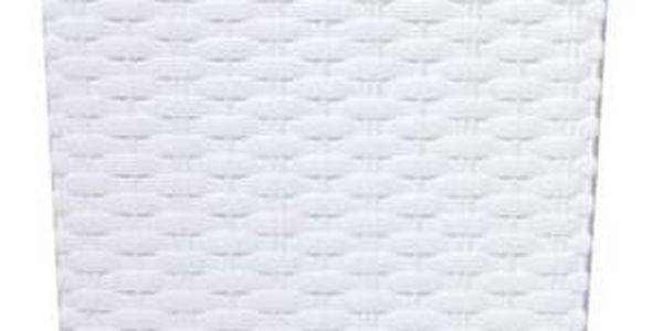 Prosperplast Rato square 26,5 x 26,5 x 50 cm bílý