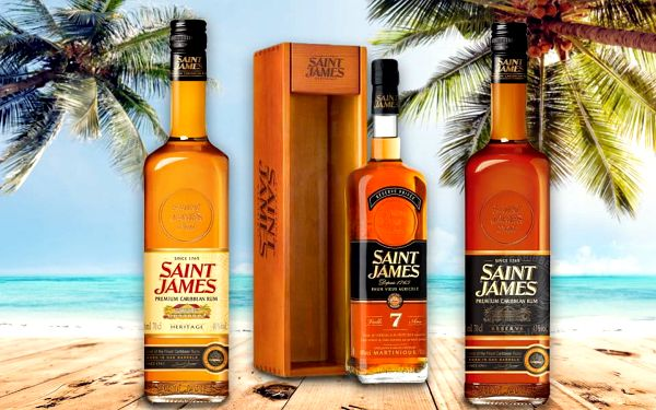 Prvotřídní karibské rumy Saint James z Martiniku