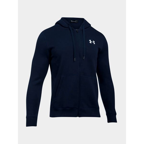 Mikina Under Armour Rival Fitted Full Zip Modrá