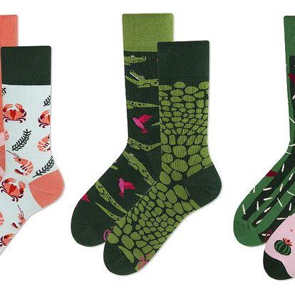 Set ponožek v dárkovém balení Many Mornings Pastel and Green, vel.39–42