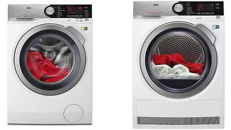 Set (Sušička prádla AEG AbsoluteCare® T8DEC68SC) + (Automatická pračka AEG ÖKOMix® L8FEC68SC) + DOPRAVA ZDARMA