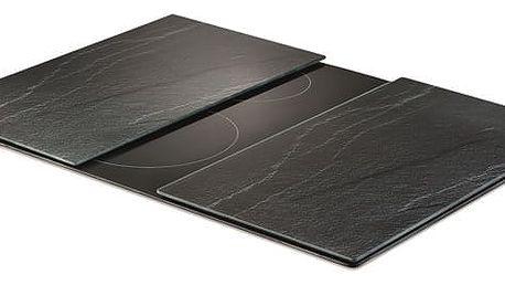 Ochranné skleněné panely ANTHRACITE SLATE na sporák – 2 ks, ZELLER ZELLER