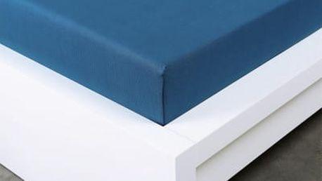 XPOSE ® Jersey prostěradlo Exclusive dvoulůžko - tmavě modrá 160x200 cm