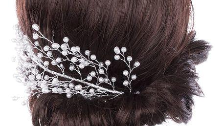 Svatební ozdoba do vlasů - ozdoba , čelenka Strom perly