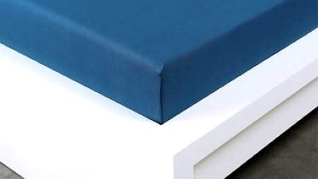 XPOSE ® Jersey prostěradlo Exclusive - tmavě modrá 120x200 cm