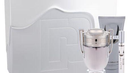 Paco Rabanne Invictus dárková kazeta pro muže toaletní voda 100 ml + toaletní voda 10 ml + sprchový gel 100ml